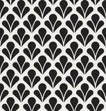 Vector Floral Abstract Seamless Pattern. Art Deco Style Background. Geometric texture. Royalty Free Stock Photography
