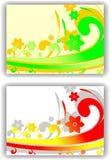 Vector floral abstracto de la tarjeta Imágenes de archivo libres de regalías