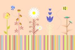 Vector floral abstracto del fondo Fotografía de archivo libre de regalías