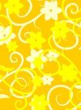 Vector floral amarillo de la textura Imagenes de archivo
