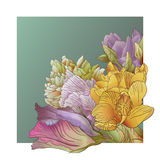 Vector Floral Backdrop Royalty Free Stock Photography