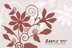 Vector floral background. Vector drawing of the floral background Royalty Free Stock Photos