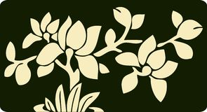 Vector floral background. A Chinese Vector floral background Royalty Free Stock Photography
