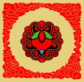 Vector floral background. A Chinese Vector floral background Royalty Free Stock Images