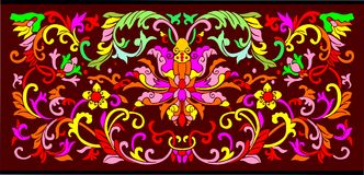 Vector floral background. A Chinese Vector floral background Stock Photos