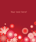 Vector floral background. In pink and red colours royalty free illustration