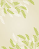 Vector floral background. Vector abstract floral background with foliage royalty free illustration