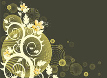 Vector Floral Background. Floral background (abstract vector ornament Royalty Free Stock Photos