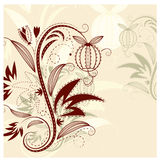 Vector floral background stock illustration