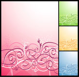 Vector floral background. Very gentle and beautiful stock illustration