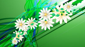 Vector floral background. For your advert message Stock Photo