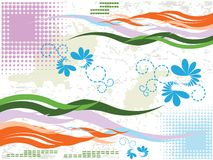 Vector floral background Stock Photo