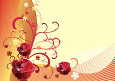 Vector floral background-9 Royalty Free Stock Image