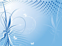 Vector floral background with butterflies Royalty Free Stock Images
