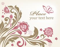 Vector floral background with decorative flowers Stock Photography