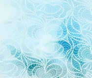Vector floral background of drawn lines. Abstract vector floral blue background of doodle drawn lines Stock Photos