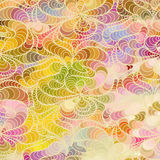 Vector floral background of drawn lines. Abstract vector floral colorful background of drawn lines Stock Photos