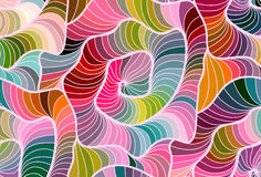 Vector floral background of drawn lines. Abstract vector floral colorful background of hand drawn lines Royalty Free Stock Photo