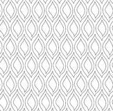 Vector floral background of drawn lines. Abstract vector seamless floral black white background of doodle hand drawn lines. Monochrome pattern. Coloring book Royalty Free Stock Photos