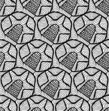 Vector floral background of drawn lines. Abstract vector seamless floral black white background of doodle hand drawn lines. Monochrome pattern. Coloring book Stock Photography