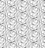 Vector floral background of drawn lines. Abstract vector seamless floral black white background of hand drawn lines Stock Photography