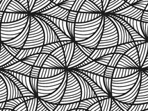 Vector floral background of drawn lines. Abstract vector seamless floral black white background of hand drawn lines Stock Photo