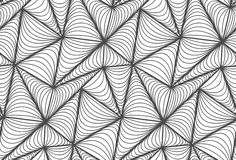 Vector floral background of drawn lines. Abstract vector seamless floral black white background of hand drawn lines Stock Images
