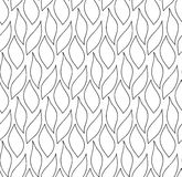 Vector floral background of drawn lines Royalty Free Stock Photo