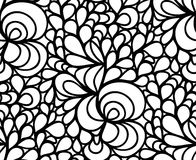 Vector floral background of drawn lines Stock Photo