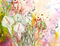 Vector floral background. EPS 10 Royalty Free Stock Photography