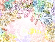 Vector floral background. EPS 10 Royalty Free Stock Photos