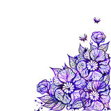 Vector floral background with flowers. EPS10 Royalty Free Stock Photography