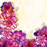 Vector floral background with flowers. EPS 10 Royalty Free Stock Photo