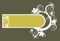 Vector Floral Background and frame Royalty Free Stock Image