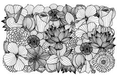 Vector floral background. Royalty Free Stock Photo