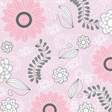 Vector floral background.Seamless floral pattern with stylized flower Stock Photos