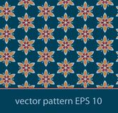 Vector floral background seamless pattern Stock Images