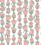 Vector floral background with tender pink roses Stock Photography