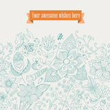Vector floral background. Vintage retro background with floral o Stock Photo