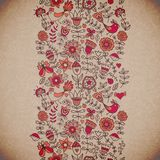 Vector floral background. Vintage retro background with floral o Royalty Free Stock Photo