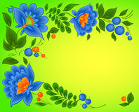 Vector floral backgrounds Stock Photo