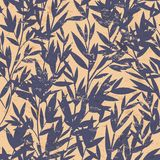 Vector floral Bamboo seamless pattern Royalty Free Stock Photo