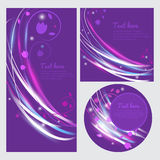 Vector floral banner with light.  Lovely floral flyer. Cover of light and colors. A colorful invitation. Beautiful greeting card. Stock Photos