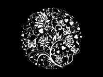 Vector floral on black background Stock Photo
