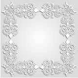Vector floral Black and White frame design Royalty Free Stock Photography