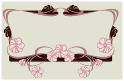 Vector floral border Royalty Free Stock Photo