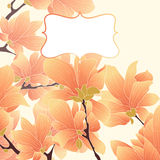 Vector floral border. Vector botanical border with flowers for wedding invitation or cards Stock Images