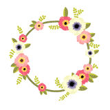 Vector floral border. Vector botanical border with flowers for wedding invitation or cards Royalty Free Stock Photo