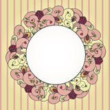 Vector floral border Stock Images