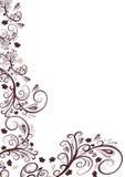 Vector floral border design. Trendy  floral border design Stock Photography